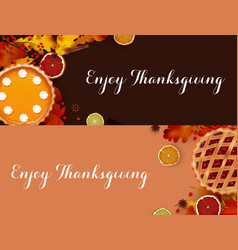 thanksgiving dinner banner templates vector image