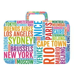 travel siutcase vector image