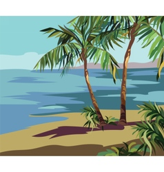 Tropical Exotic Summer Beach vector image