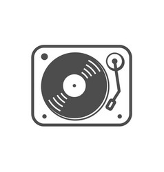 Turntable simple icon white design vector