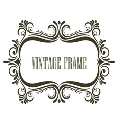 Vintage frame with embellishments vector