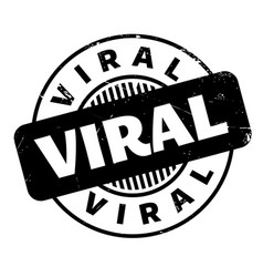 Viral rubber stamp vector