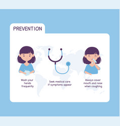 Virus covid 19 prevention health care wash hands vector