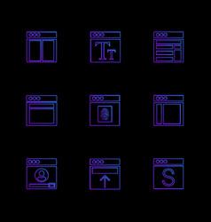 Website web user interface web app eps icons vector