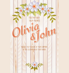 Wedding invitation card invitation card with vector