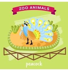 Zoo Animal Peacock vector