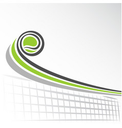 flying lawn tennis ball vector image vector image