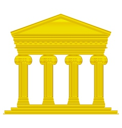 Gold ionic temple vector image vector image