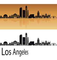 Los Angeles skyline in orange vector image