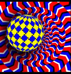 optical 3d art motion dynamic vector image