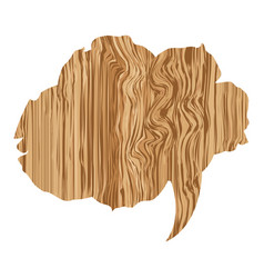 cloud wood chat bubble icon vector image
