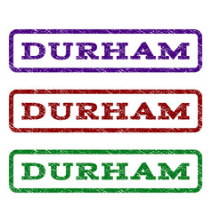 durham watermark stamp vector image vector image