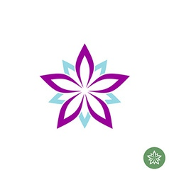 Five leaves lotus flower logo template vector image vector image