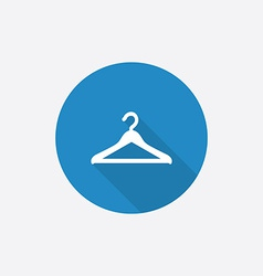Hanger Flat Blue Simple Icon with long shadow vector image vector image