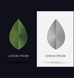 luxury leaf vector image vector image