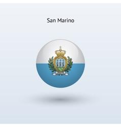 San Marino round flag vector image