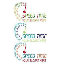 Speed time logo vector image vector image