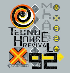 tecno house vector image vector image