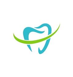 teeth dentist care abstract logo vector image