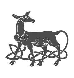 ancient celtic mythological symbol of doe vector image