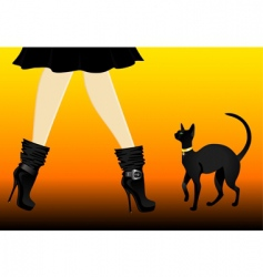 cat and boots vector image vector image