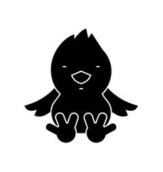 chick icon black sign on vector image