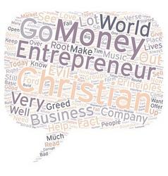 christian entrepreneur 1 text background wordcloud vector image