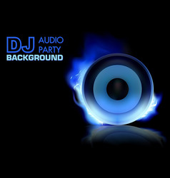 dj party background vector image