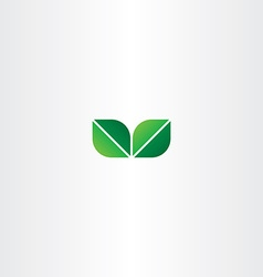 green eco leaf logo element vector image vector image