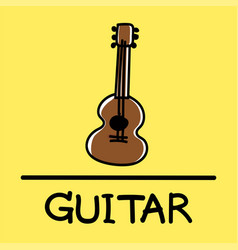 guitar hand-drawn style vector image vector image