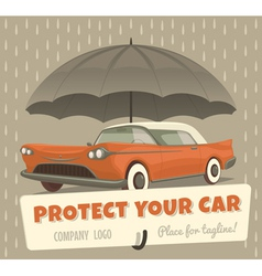 Protect your car vector image vector image