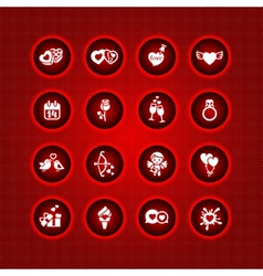 set valentines day icons signs vector image