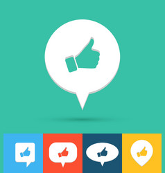 social media icon vector image