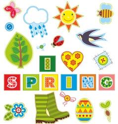Spring Set Textile Element vector image