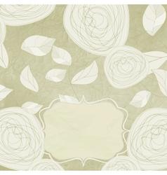 Vintage Rose Background vector image vector image
