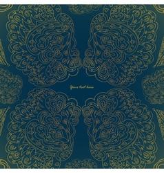 Art floral golden pattern on dark background vector image vector image