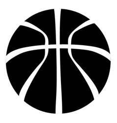 basketball icon simple black style vector image