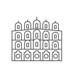 indian temple line icon sign vector image