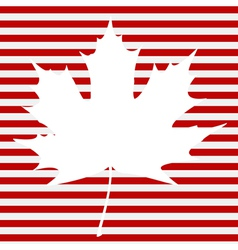 Maple Leaf on Stripes vector image vector image