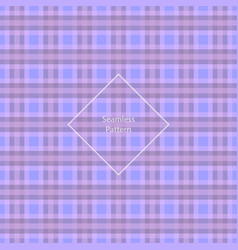 plaid fabric cage back pattern vector image vector image