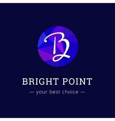 polygonal style elegant B letter logo vector image vector image