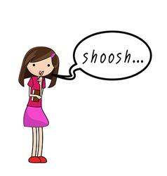 shoosh vector image vector image