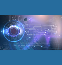 Abstract cyber eye futuristic background vector