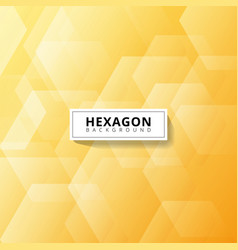 abstract geometric hexagon overlapping layer on vector image