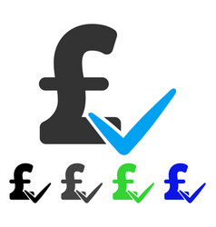 Accept pound flat icon vector