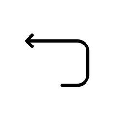 Arrow loop loop arrow back flat color icon icon vector