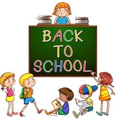 Back to school signboard vector image