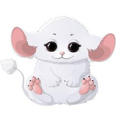 beautiful white animal vector image