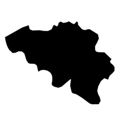 Belgium - solid black silhouette map of country vector