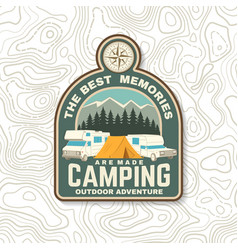 Best memories are made camping summer camp vector